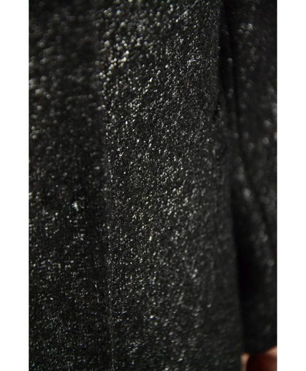 Пальто Sandro Ferrone черное с люрексом
