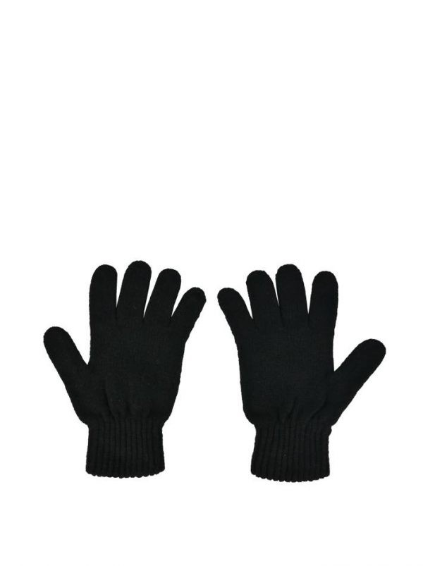 Перчатки Blanca черные вязаные с камнями
