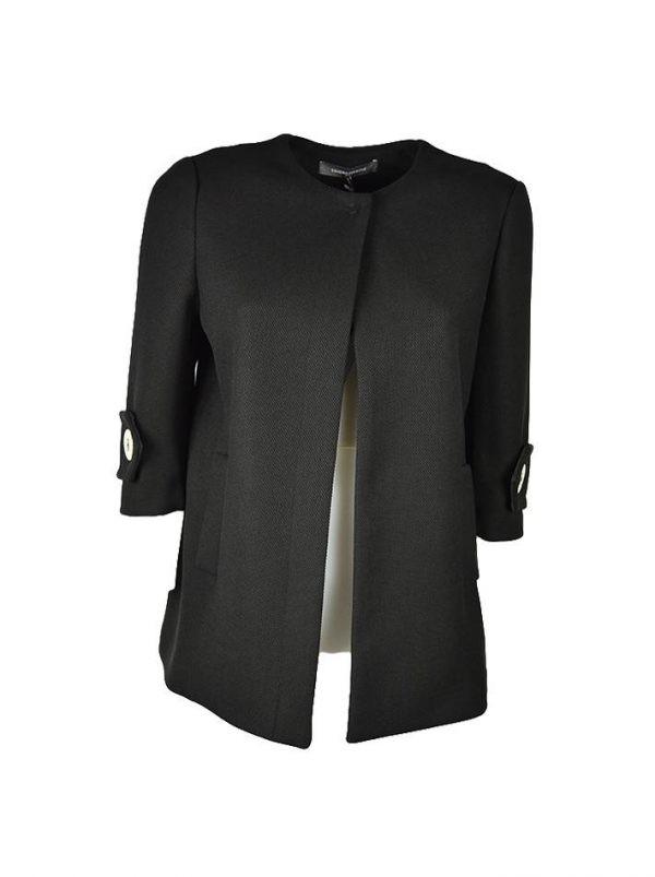 Пиджак Sandro Ferrone черный с золотыми пуговицами