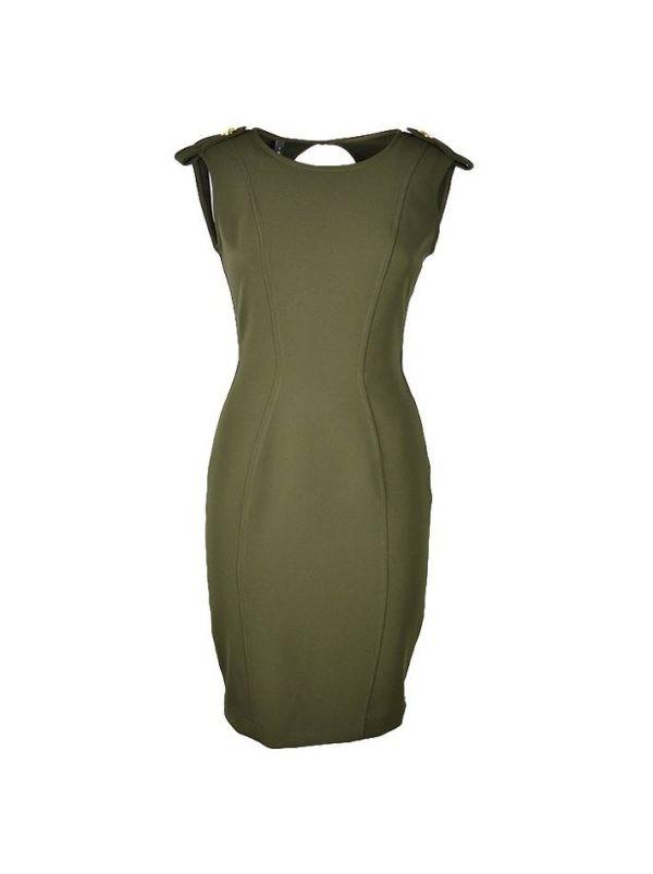 Платье Imperial зеленое с золотыми пуговицами