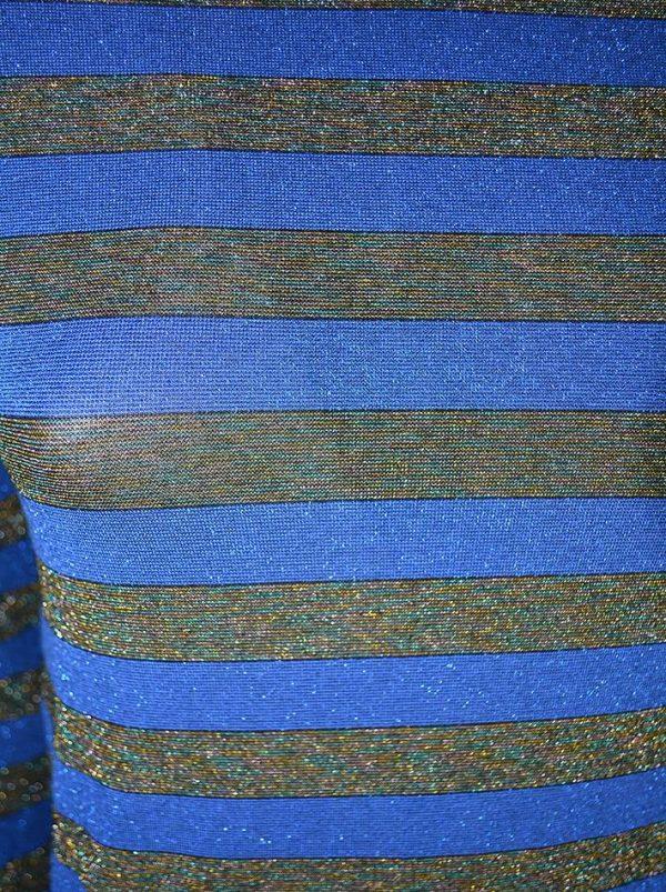 Платье Imperial синее в полоску с люрексом