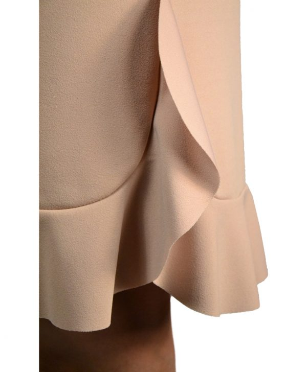 Платье Sandro Ferrone бежевое с воланами