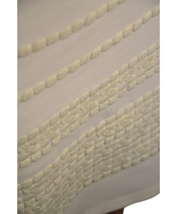 Платье Sandro Ferrone белое с вышивкой