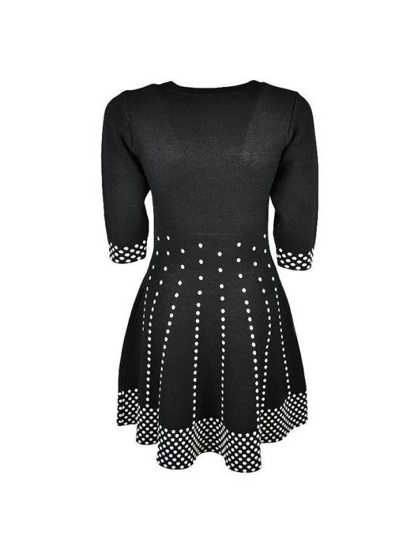 Платье Sandro Ferrone черное с белым принтом