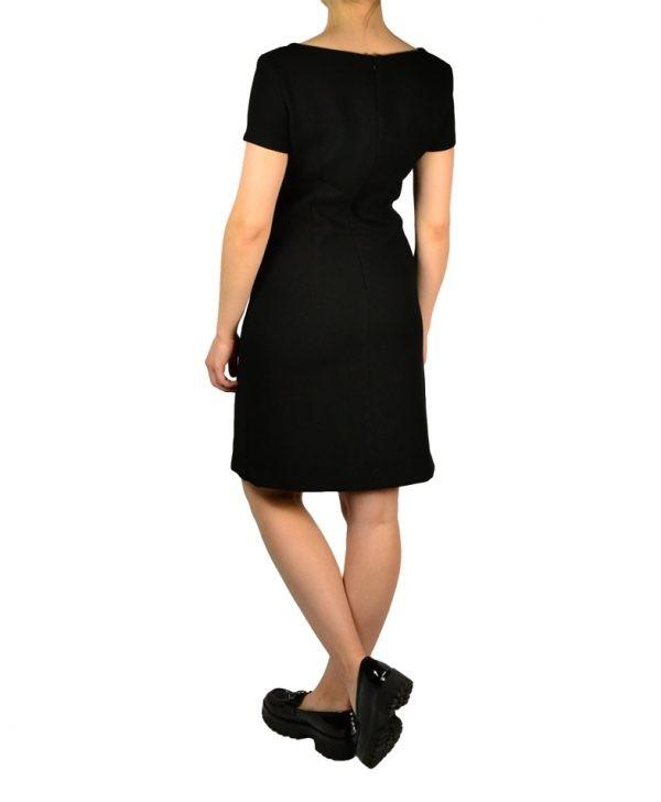 Платье Sandro Ferrone черное с золотой пуговицей