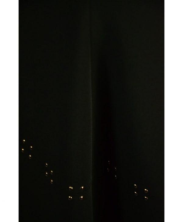 Юбка Sandro Ferrone черная с золотыми клепками