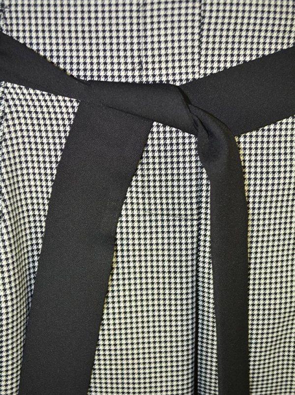 Юбка Sandro Ferrone черно-белая с черным поясом