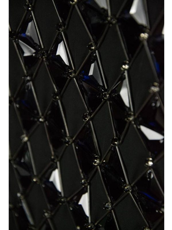 Платье Class Roberto Cavalli черное с камнями