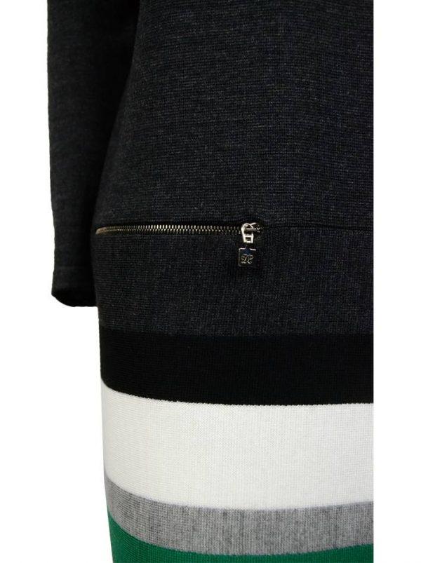 Платье D. Exterior темно-серое по линии низа полосы