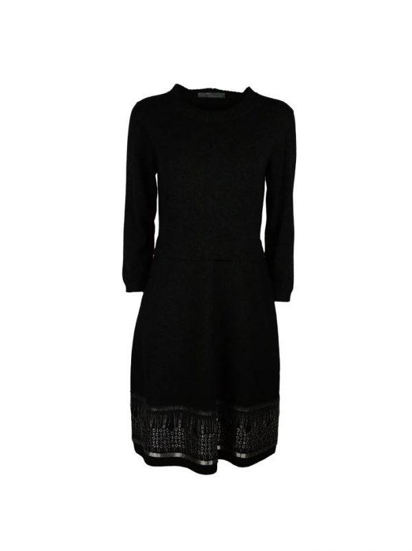 Платье D. Exterior темно-серое с вышивкой
