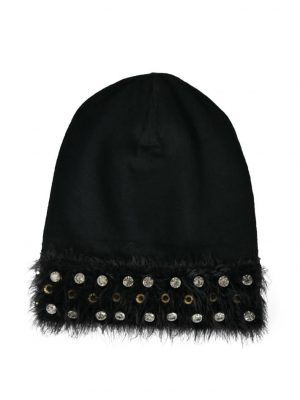 Шапка Maria Grazia Severi черная с камнями