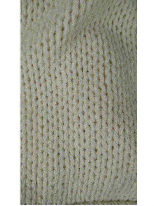 Шарф Kontatto белый крупная вязка