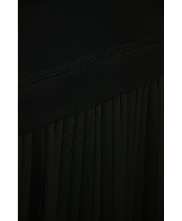 Юбка VDP черная низ плиссе