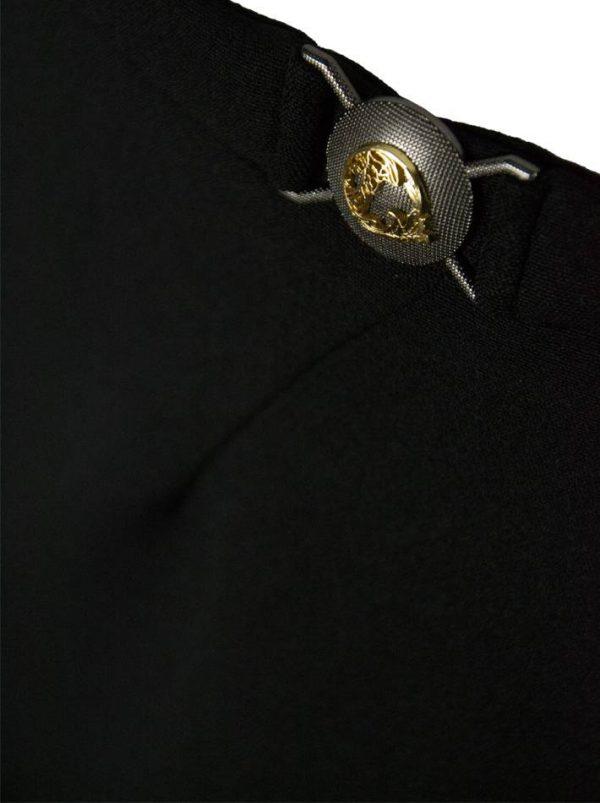 Юбка Versace черная с фирменной пряжкой