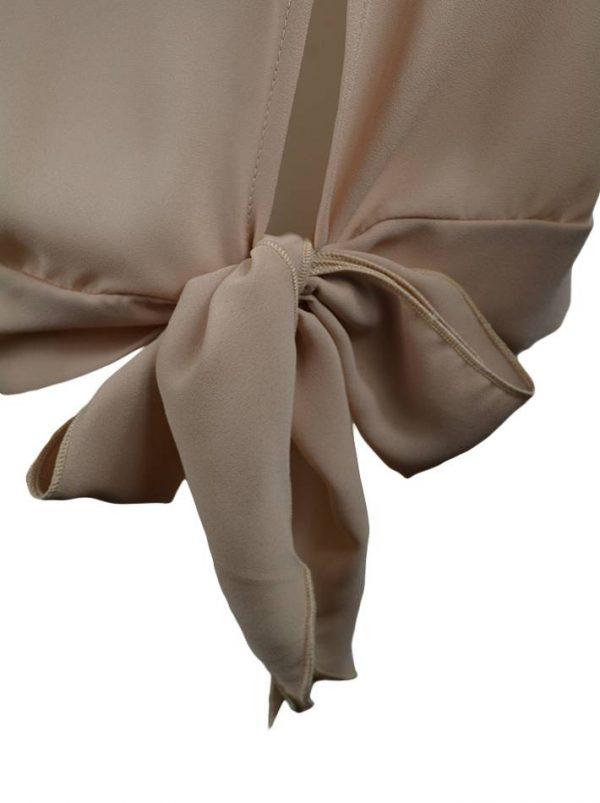 Блуза Paolo Casalini пудрового цвета с бантом-завязкой сбоку