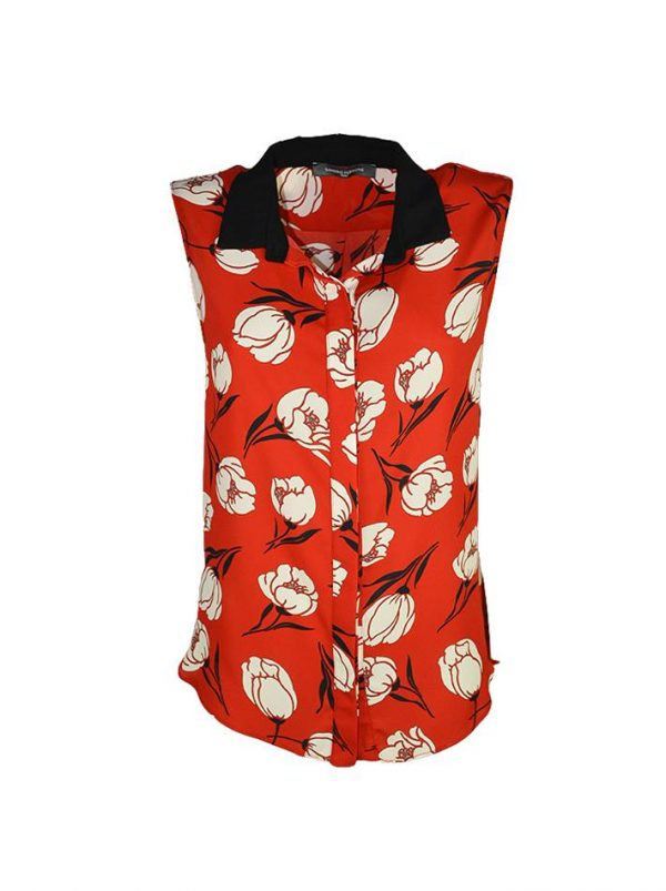 Блуза Sandro Ferrone красная с принтом