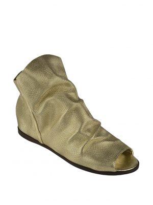 Ботинки Nila&Nila золотые с открытым носом