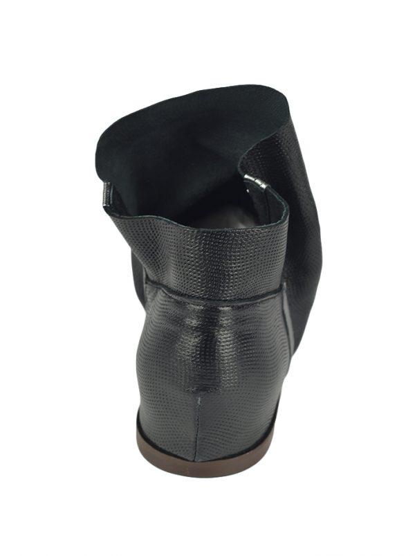 Ботинки Nila&Nila черные с серебряной полоской