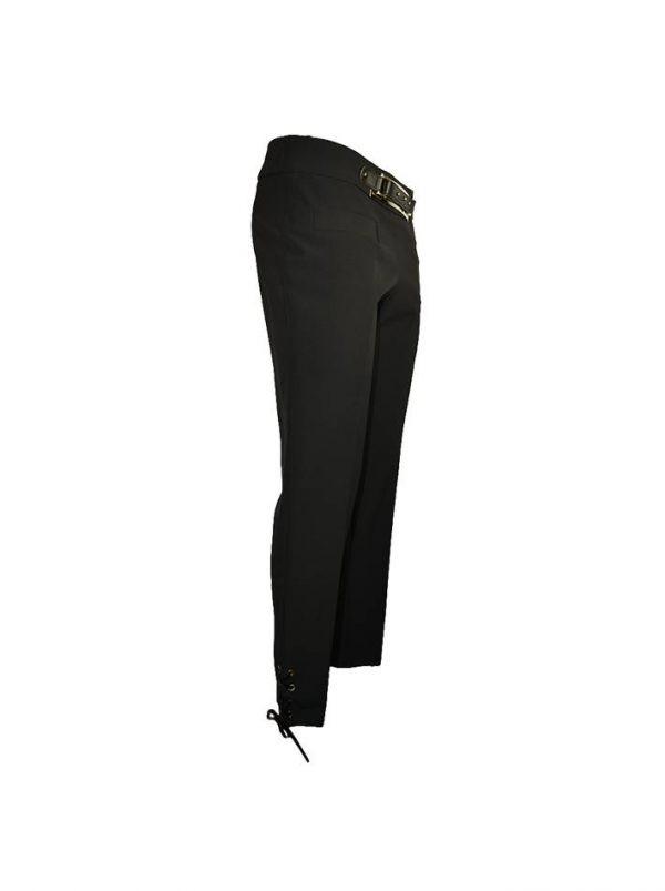 Брюки Tenax черные с имитацией пояса и завязками внизу
