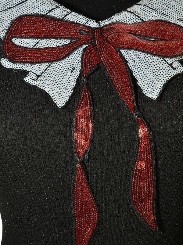 Кофта Paolo Casalini черная с пайетками и люрексом