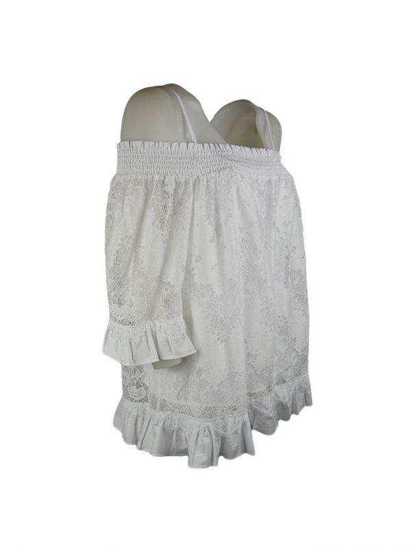 Кофта Twin-Set белая кружевная с рюшами