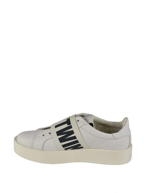 Кроссовки Twin-Set белые с принтом-надписью