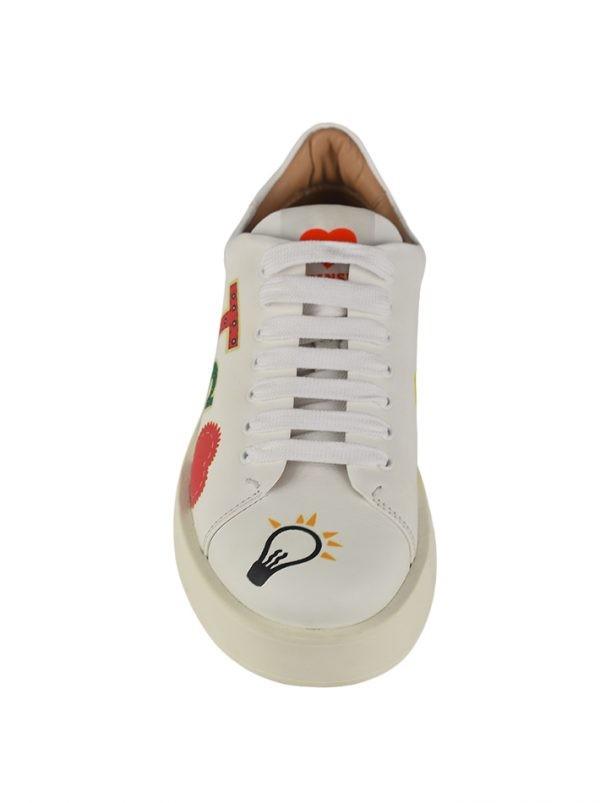 Кроссовки Twin-Set белые с принтом