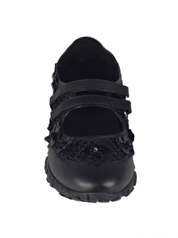 Кроссовки Twin-Set черные на липучке с декоративными элементами