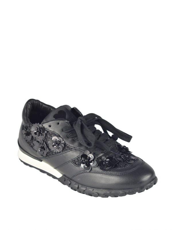 Кроссовки Twin-Set черные с декоративными элементами