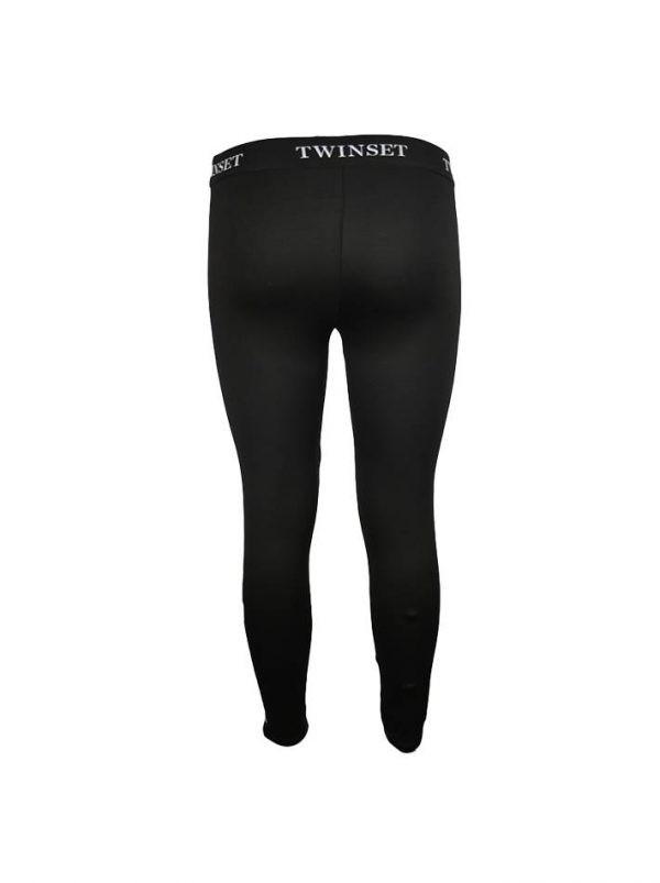 Лосины Twin-Set черные с принтом
