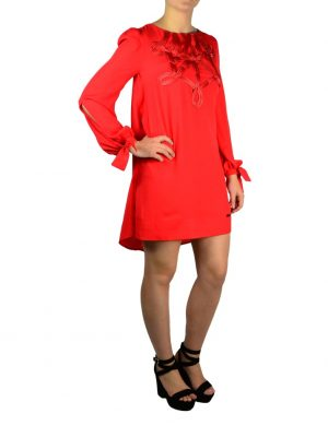 Платье Eureka красное с нашивкой из красной ленты