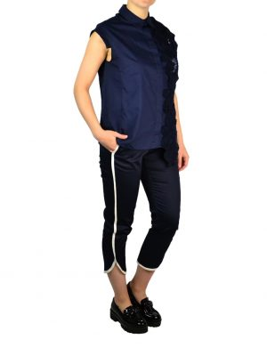 Рубашка Tenax темно-синяя с вышивкой