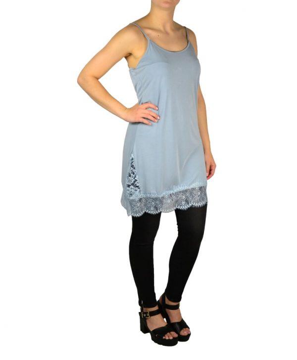 Сорочка Paolo Casalini голубая трикотажная с гипюром