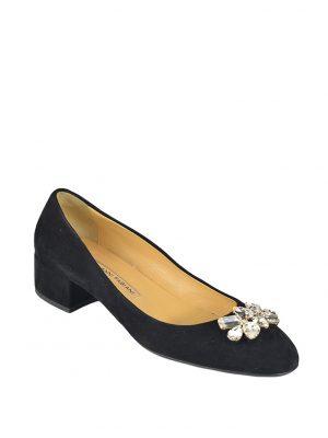 Туфли Giovanni Fabiani черные с камнями