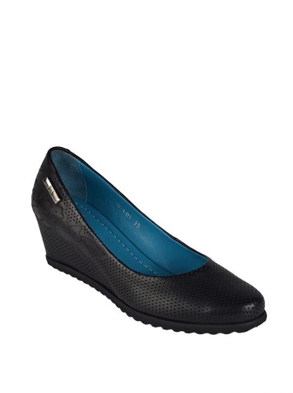 Туфли Lab Milano черные перфорированные