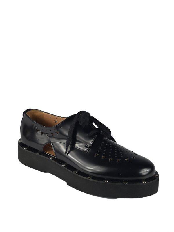 Туфли Twin-Set черные резные с клепками