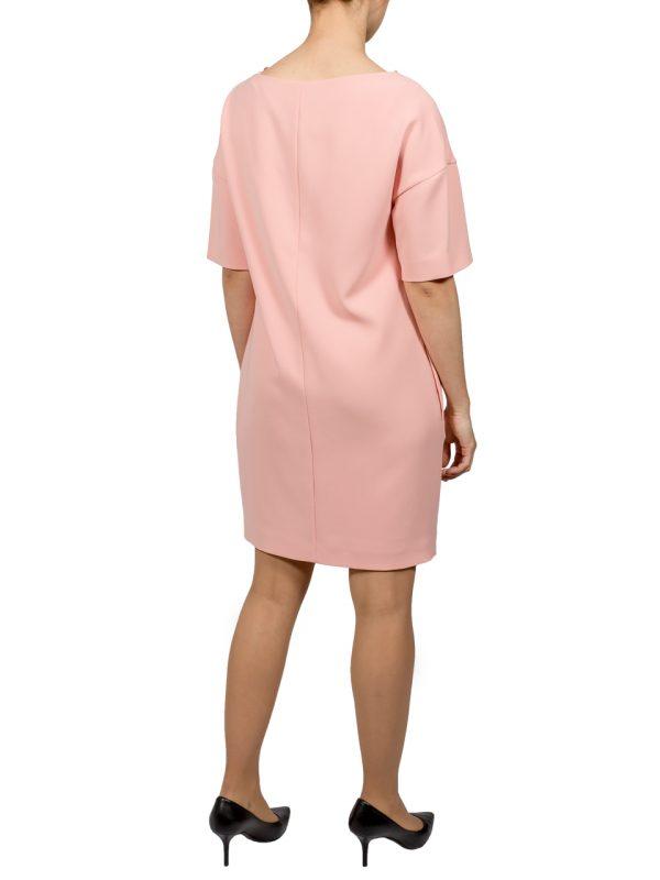 Платье Boutique Moschino пудрового цвета с брошью