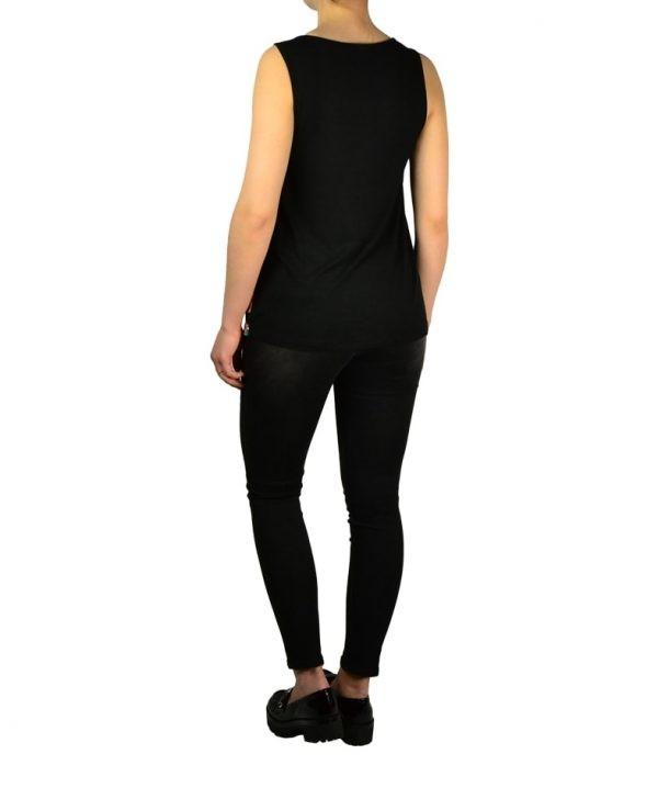 Блуза Silvian Heach черная с цветочным принтом