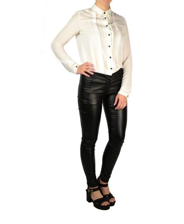 Комбинезон Sandro Ferrone белая рубашка с черными брюками