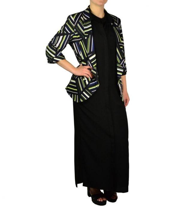 Пиджак Silvian Heach черный с принтом