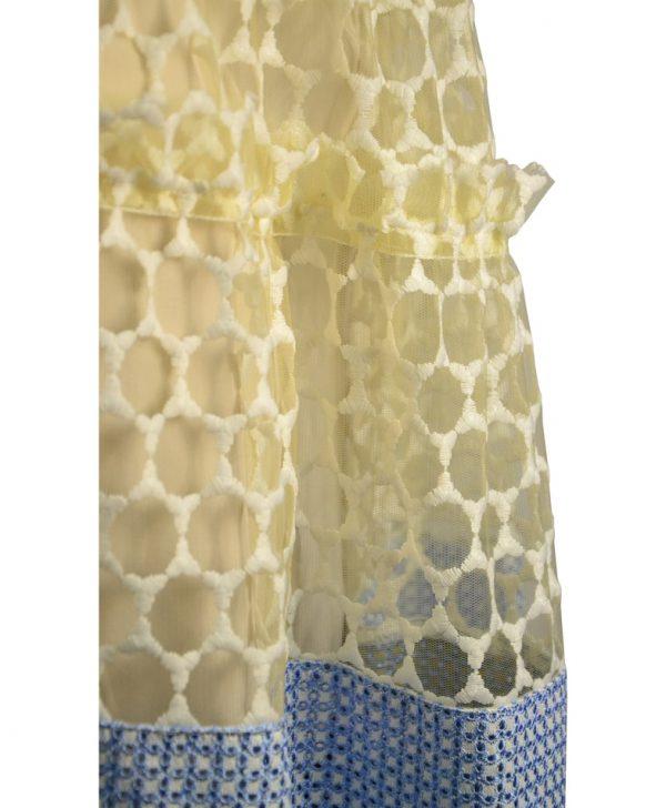 Юбка Silvian Heach молочного цвета с белой и голубой вышивкой