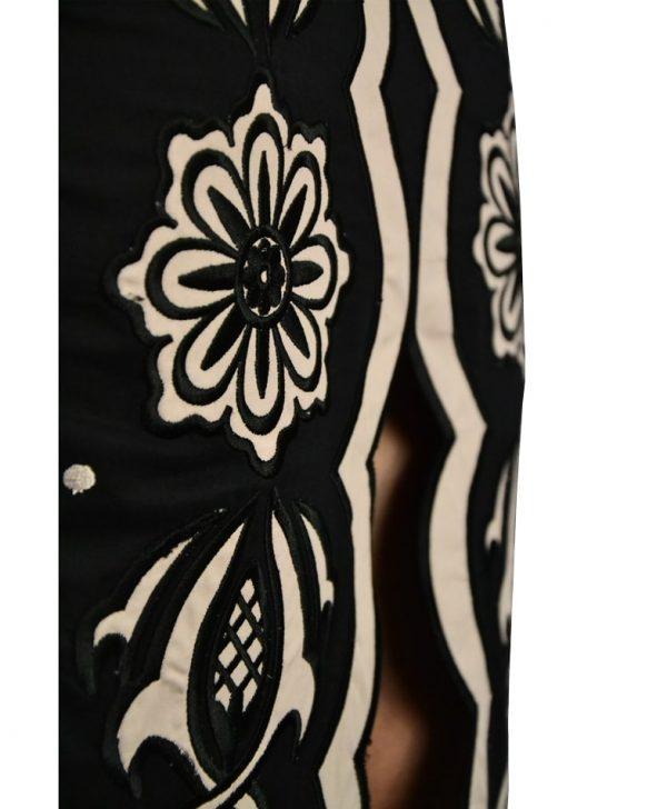 Юбка Silvian Heach черная с вышивкой