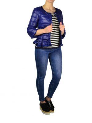Куртка Silvian Heach синяя стеганая на клепках