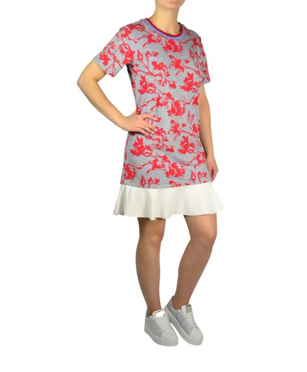 Платье Silvian Heach серое с принтом