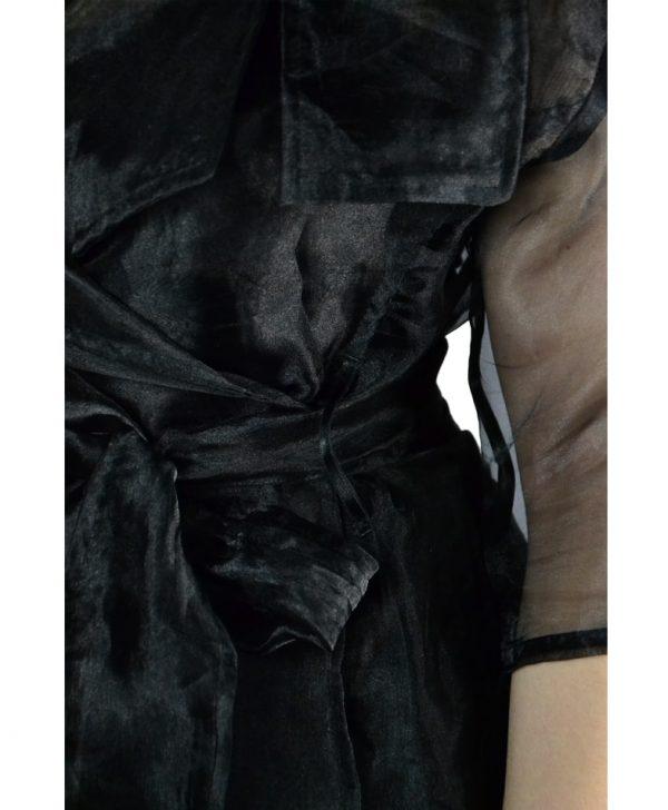 Блуза Babylon W Les Femmes черная с поясом-завязкой