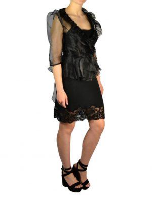 Блуза Babylon W Les Femmes черная с рюшами