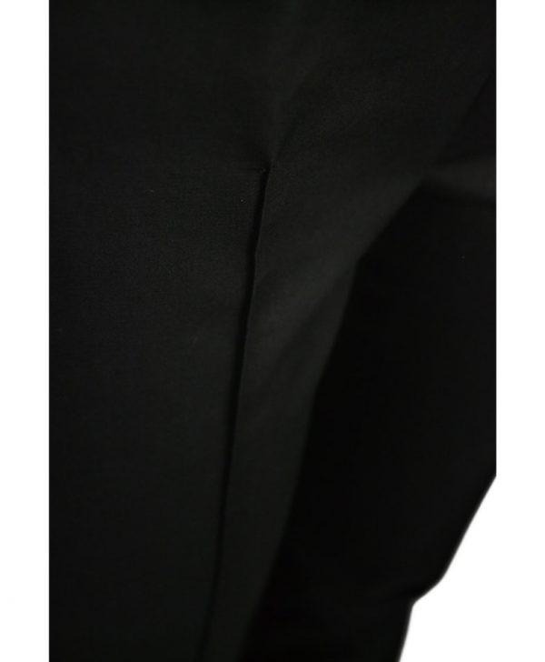 Брюки Boutique Moschino черные классические с простроченными стрелками