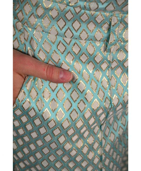 Брюки Petite Couture голубые с принтом