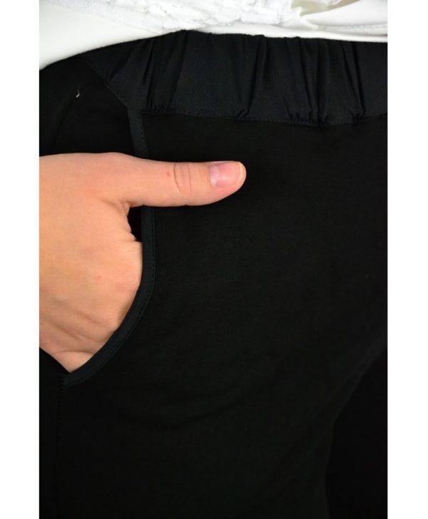 Брюки VDP черные на резинке со шнурком-завязкой