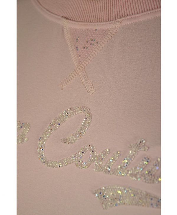 Костюм VDP розовый комбинированный шёлком с кружевом